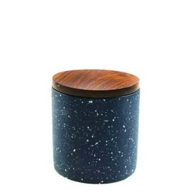 "Be Home Be Home Cement Container Speckled w/Lid  3.75""x4.25"""