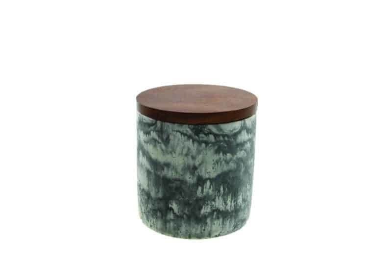"""Be Home Be Home Cement Container Speckled w/Lid  3.75""""x4.25"""""""
