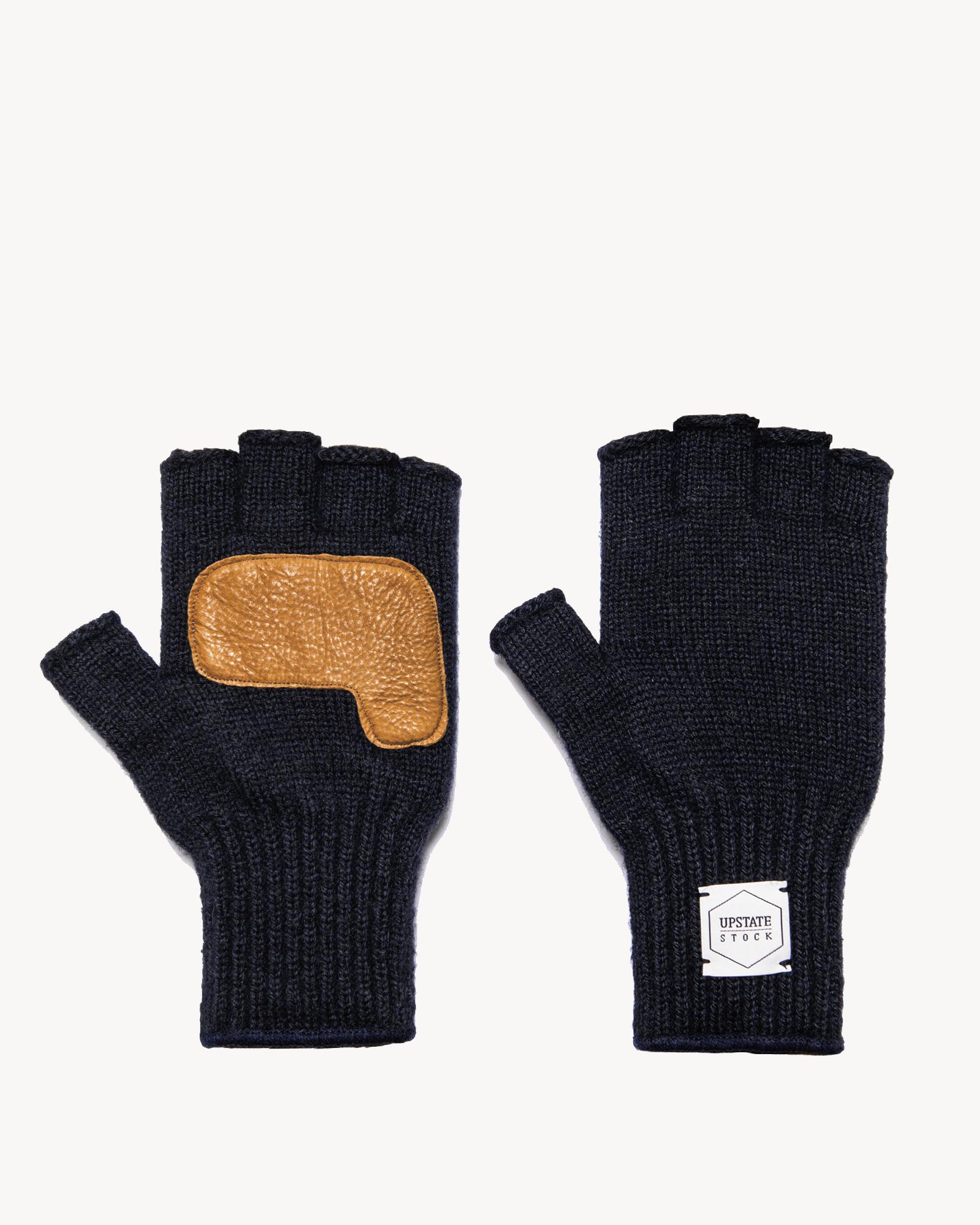 Upstate Stock Upstate Stock Wool Fingerless Glove w/Deerskin