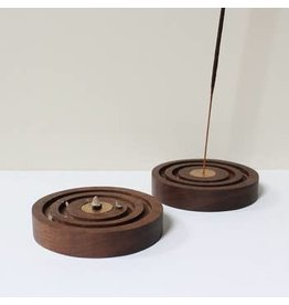 Mingled Goods  Walnut Concentric Incense Holder