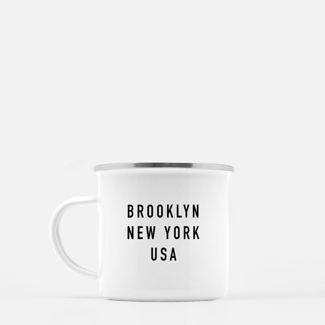 Woods Grove My Mugs & Kisses - Brooklyn Enamel Mug