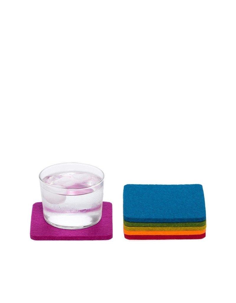 Graf & Lantz Graf & Lantz Coaster square 6 pack Rainbow