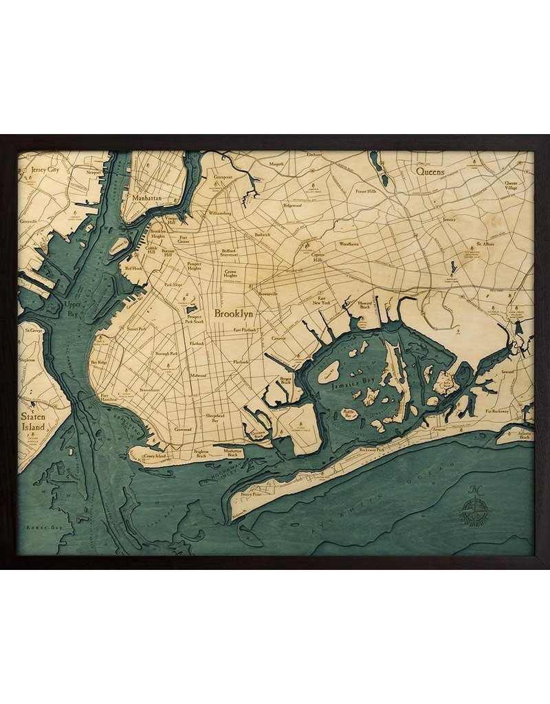 Wood Chart Wood Chart 24.5 x 31 - Brooklyn