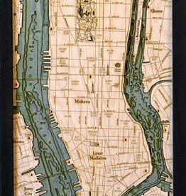 Wood Chart Wood Chart 24.5 x 31 - Manhattan