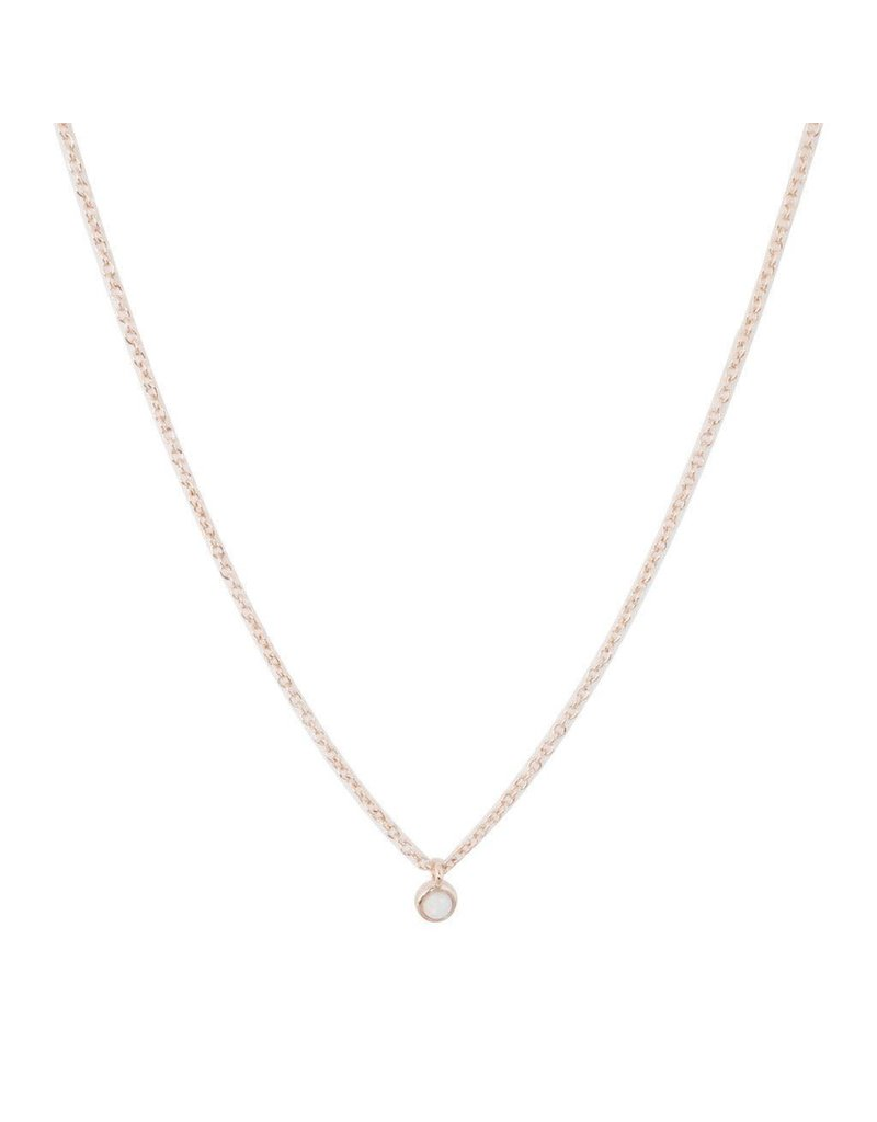 Honeycat Honeycat Opal Bezel Set Necklace