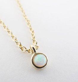 Honeycat Honeycat Opal Bezel Set Necklace