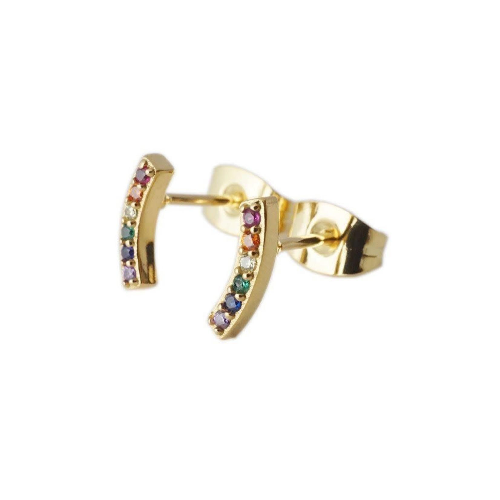 Honeycat Jewelry Honeycat Rainbow Crystal Arc Earrings
