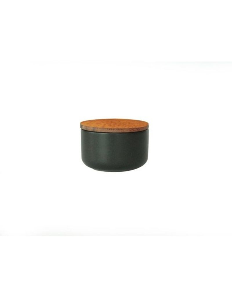 Be Home Be Home - Stoneware Container w/ Acacia Lid -