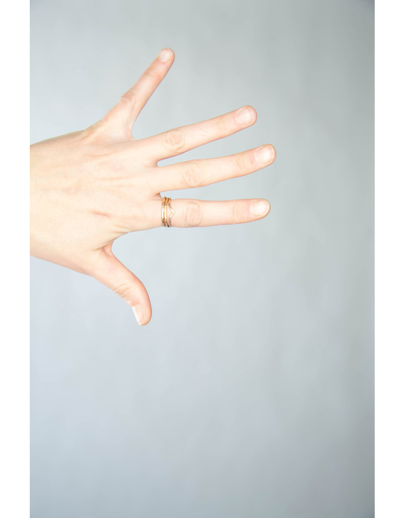 Lonewolf Collective Lonewolf Collective Stacker Ring 14K Gold Fill