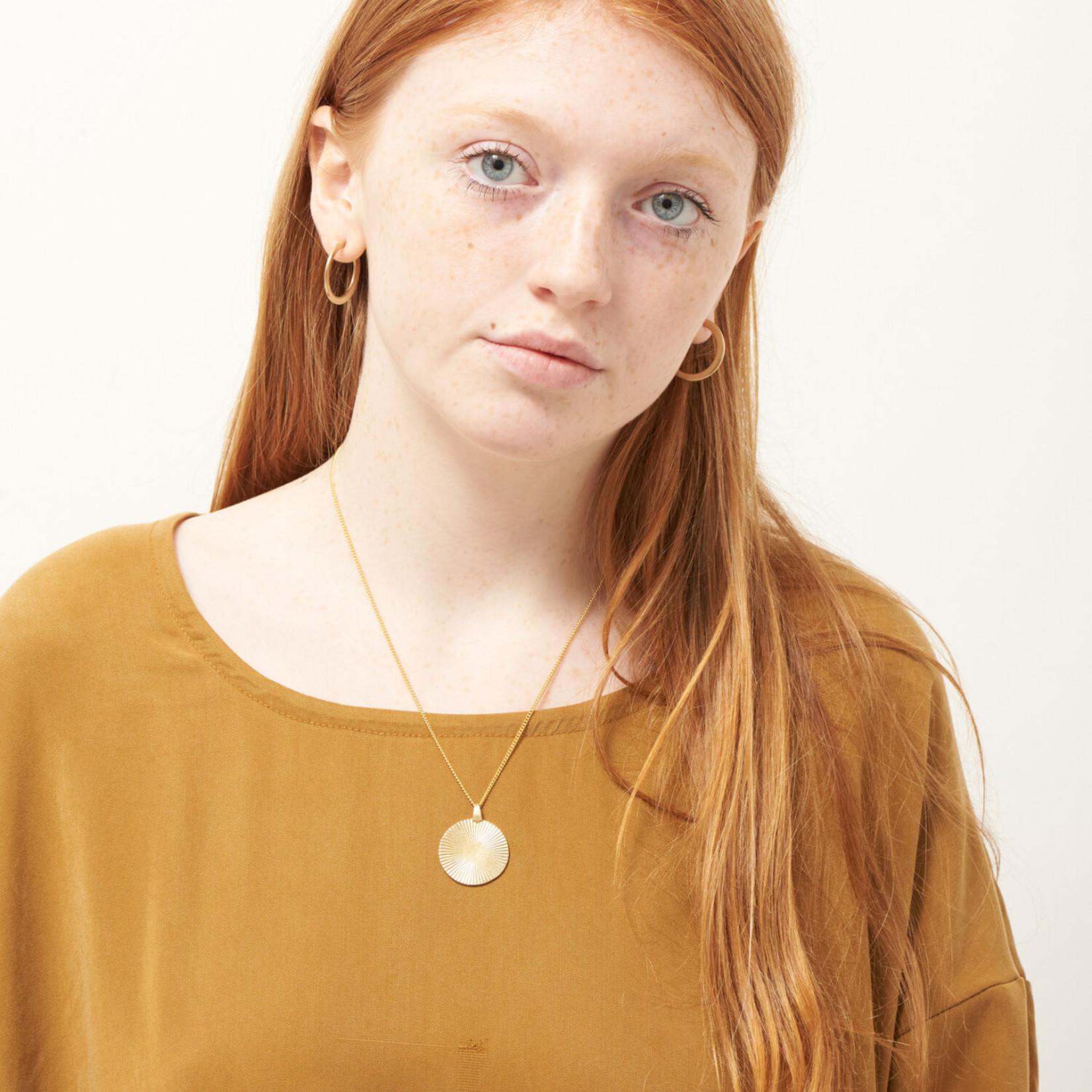 Mana Made Jewelry Mana Made Sunburst Circle Charm Necklace