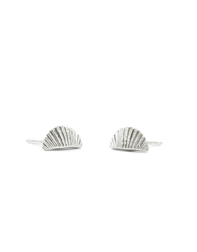 Mana Made Jewelry Mana Made Scallop Earrings Silver