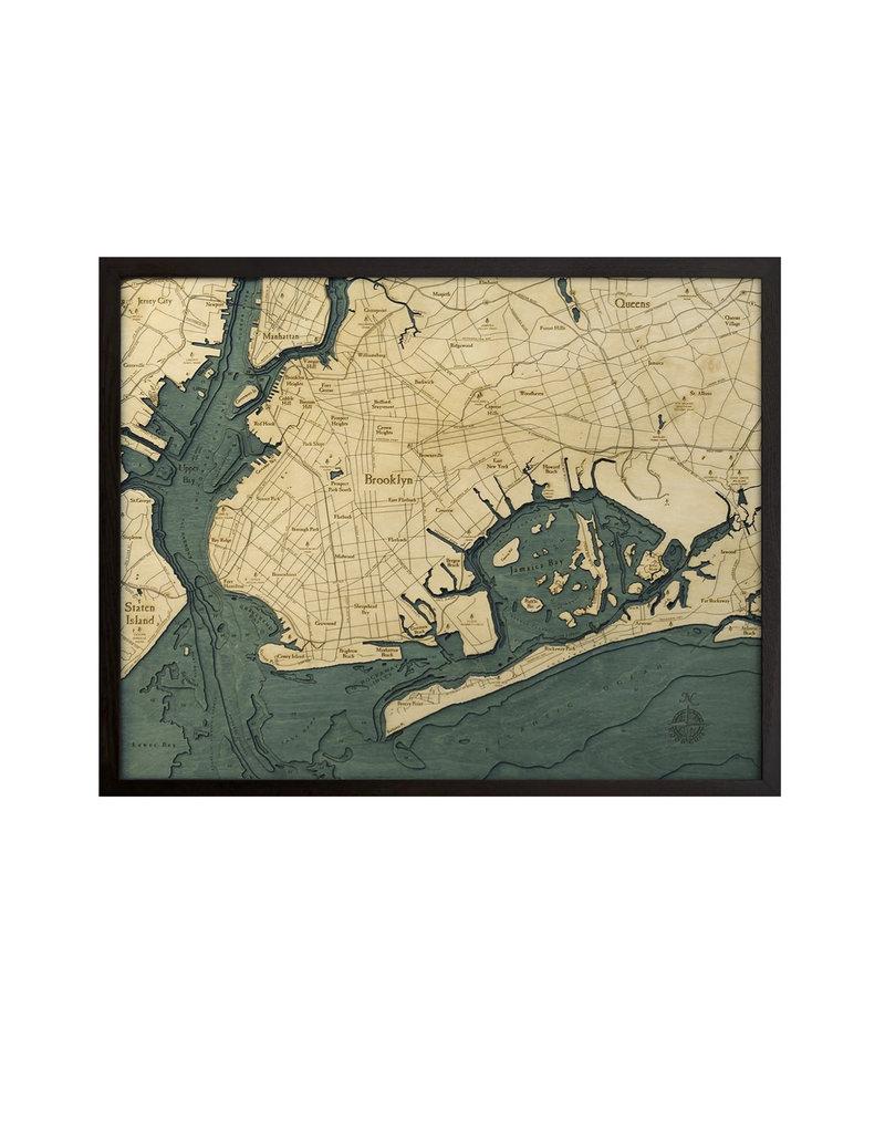 Wood Chart Wood Chart 24.5 x 31 - Brooklyn
