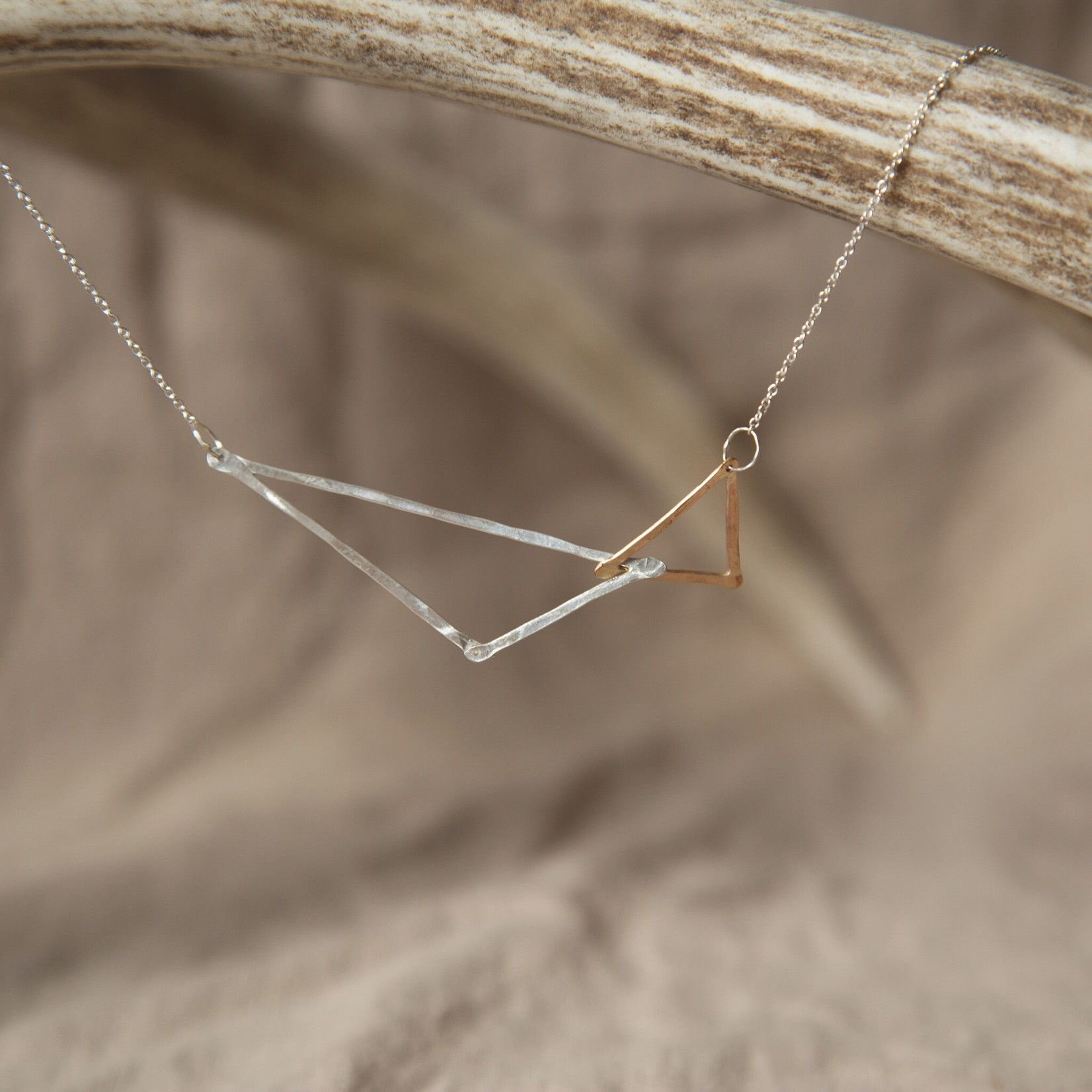 Lonewolf Collective Lonewolf Collective - Oblique Necklace (14K Gold Fill & Silver)