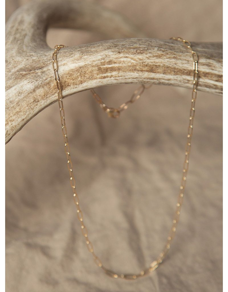 "Lonewolf Collective Lonewolf collective Single Layering Chain 14k Gold Fill (15""-20"")"
