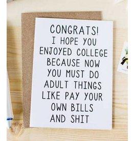 Honest AF Card Graduation