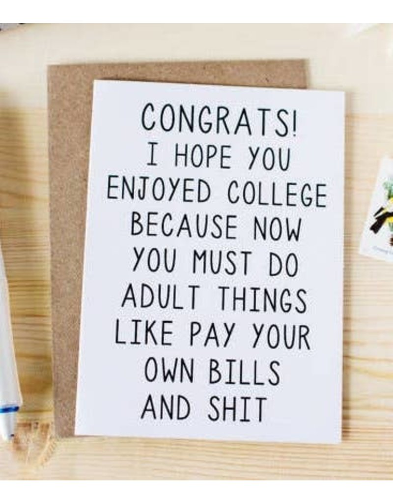 Honest AF Card Graduation