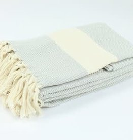 "Turkish Blanket 79""x95"" Herringbone - More Options Available"