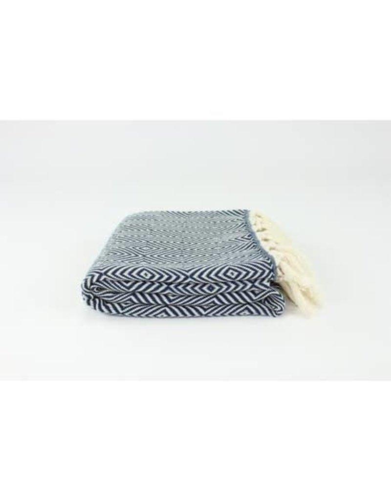 """Turkish Blanket 79""""x95"""" Diamond"""