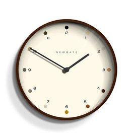 Newgate Newgate Mr Clarke Clock Dark Wood Dot Dial 40