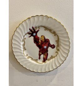 Vintage Plate Super Hero