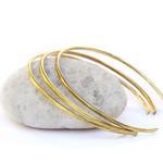 Mana Made Jewelry Mana Made Brass Hammered Thin Cuff Bracelet