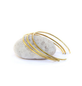 Mana Made Jewelry Mana Made Brass Hammered Thin Cuff Bracelet