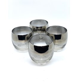 Vintage Silver Fade Rocks Glass Dorothy Thorpe?