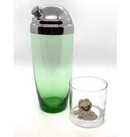 Vintage Green Glass Martini Shaker