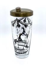 Vintage Glass Martini Shaker Merry-Go-Round