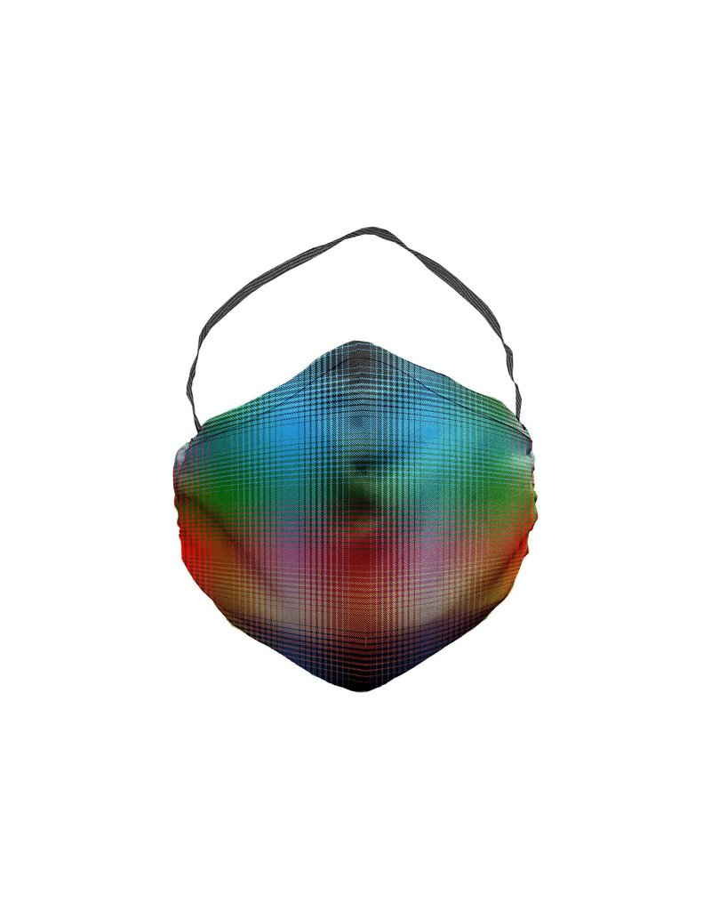 JCRT JCRT The Glowing Heart Plaid Face Mask