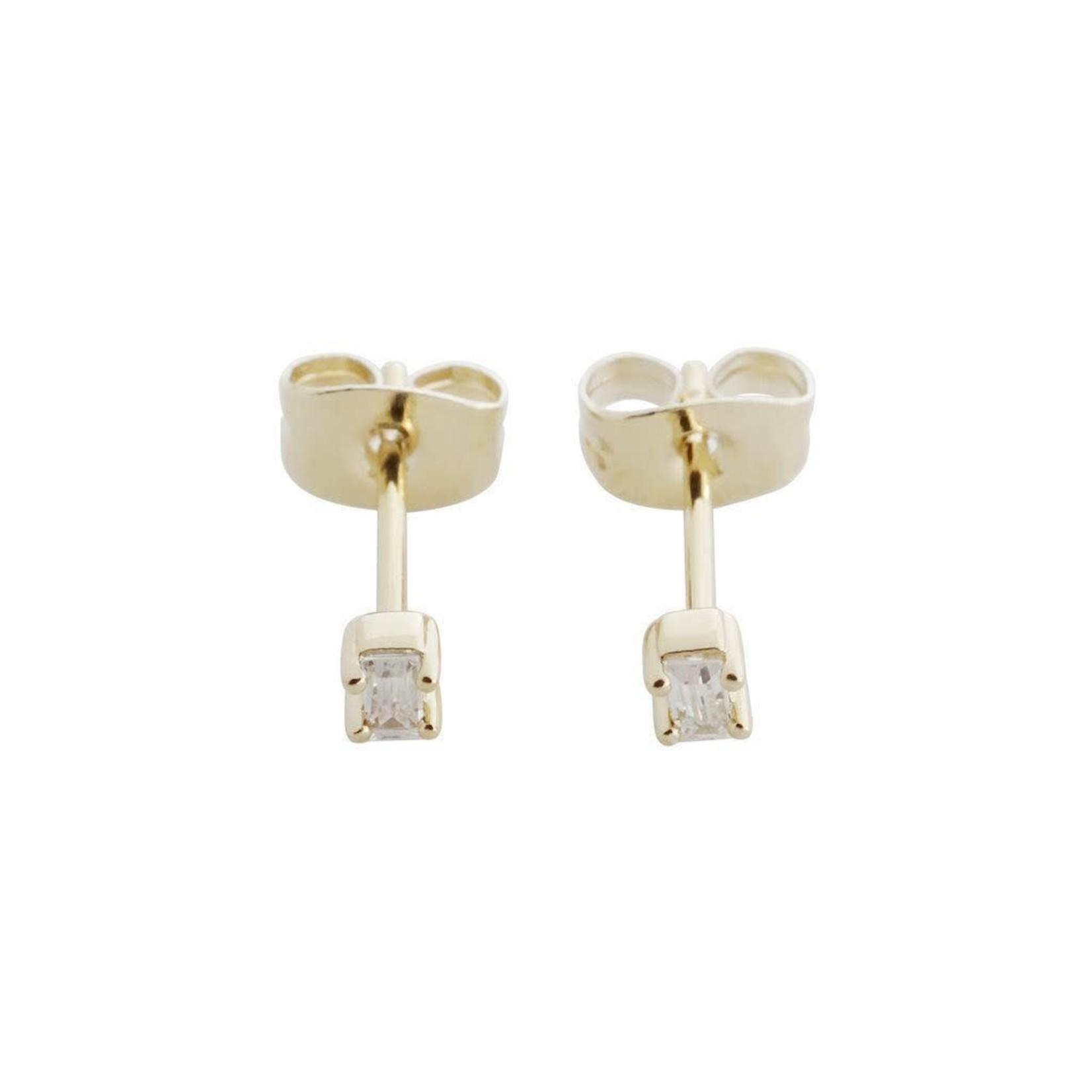 Honeycat Jewelry Honeycat Crystal Baguette Studs Earrings
