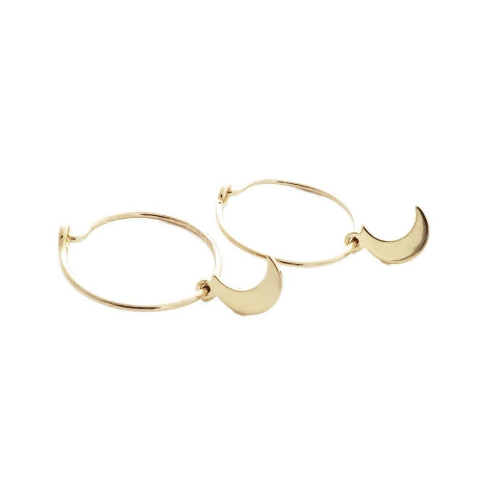Honeycat Jewelry Honeycat Magic Charm Moon Hoops Earrings