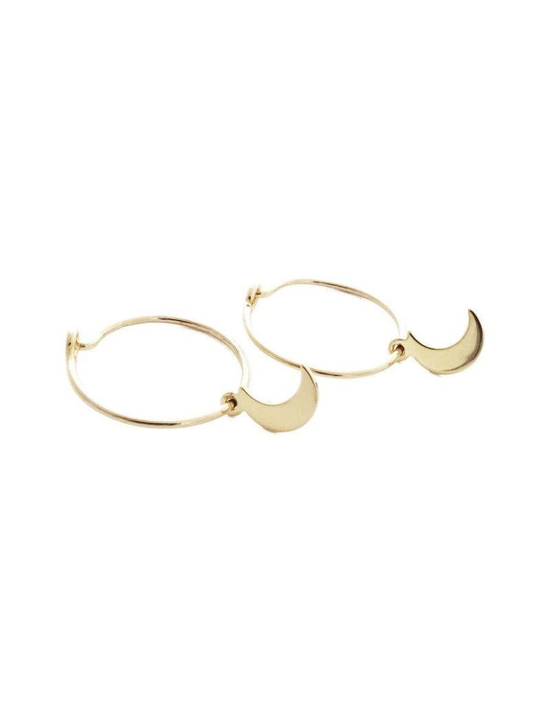 Honeycat Honeycat Choosey Moon Hoops Earrings