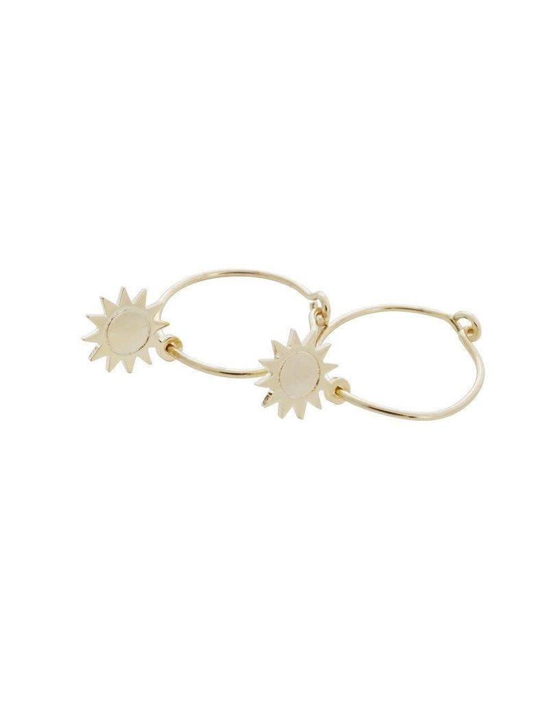 Honeycat Honeycat Magic Charm Sun Hoops Earrings