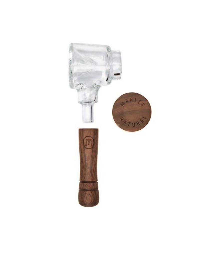 Marley Natural Marley Natural Spoon Pipe Hand-blown Glass & Black Walnut