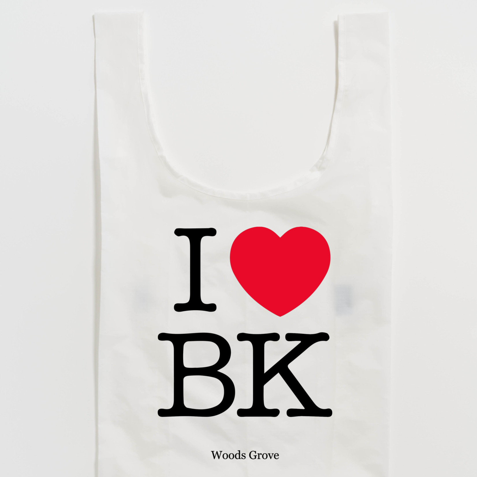 Woods Grove Reusable Bag Standard - I Love BK Exclusively by Baggu for Woods Grove - - More Options Available