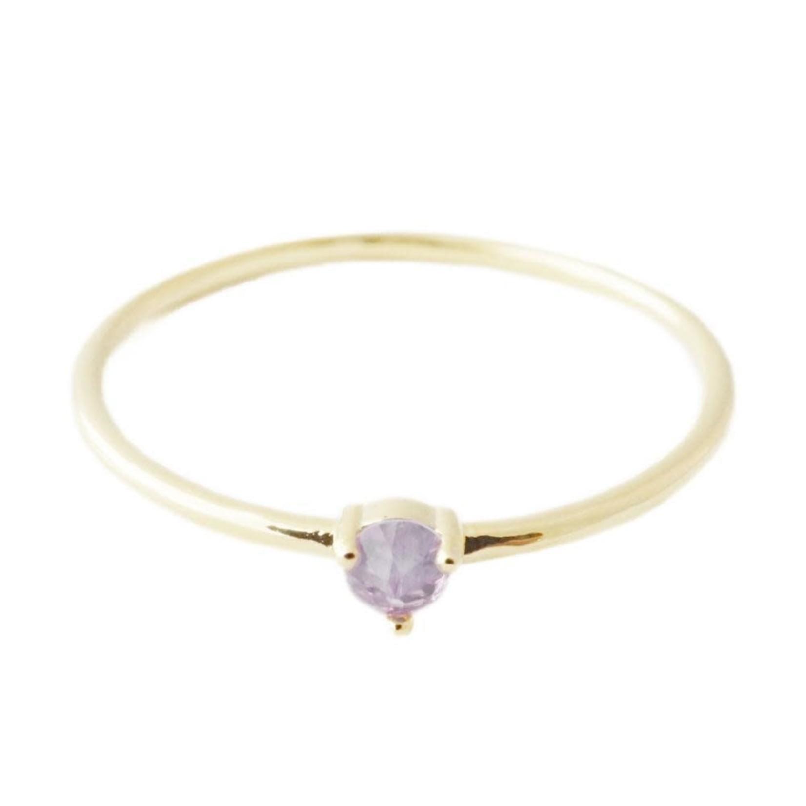 Honeycat Jewelry Honeycat Solitaire Ring AMETHYST Gold