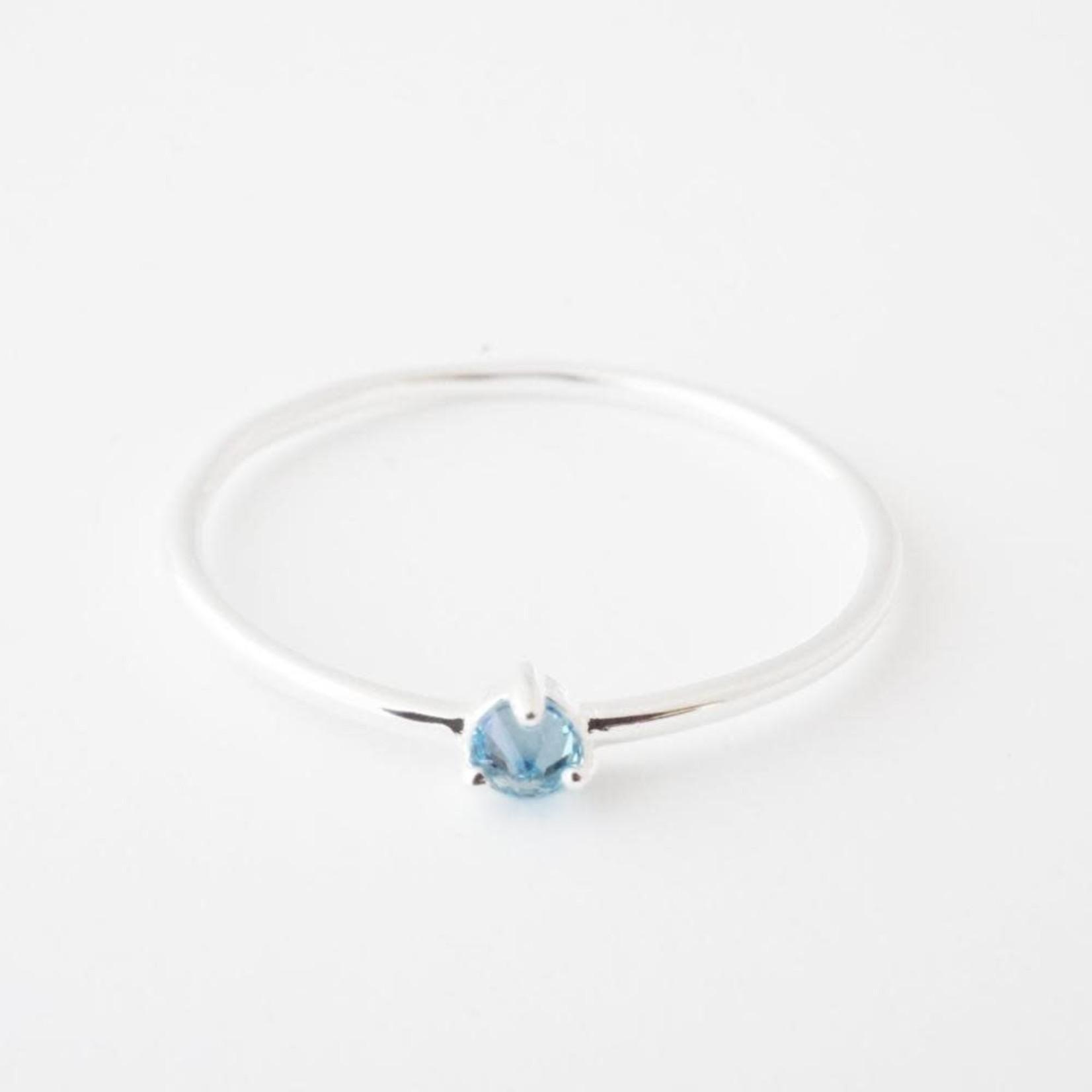 Honeycat Jewelry Honeycat Point Solitaire Ring AQUAMARINE