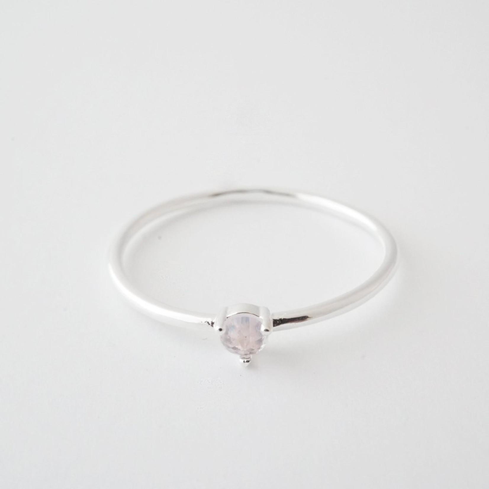 Honeycat Jewelry Honeycat Point Solitaire Ring ROSE QUARTZ