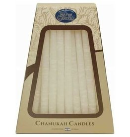 Safed Candles Safed Deluxe Handcrafted Hanukkah Candles - White