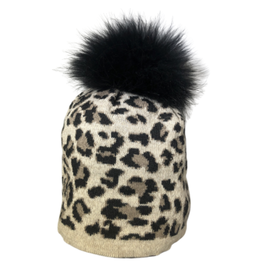 Jijou Fur Pom Pom Capri Hat - More Options Available