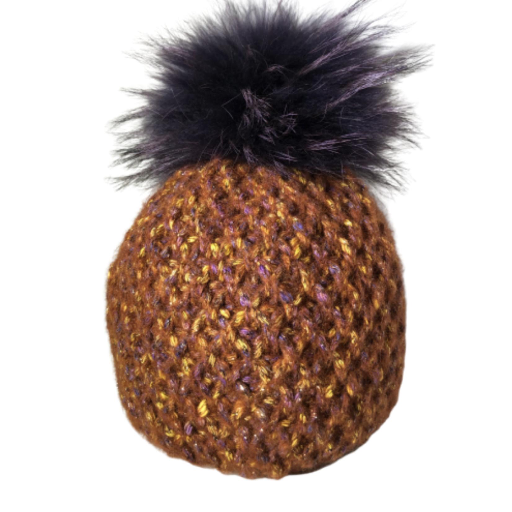 Fur Pom Pom Hat JJ90 by Jijou