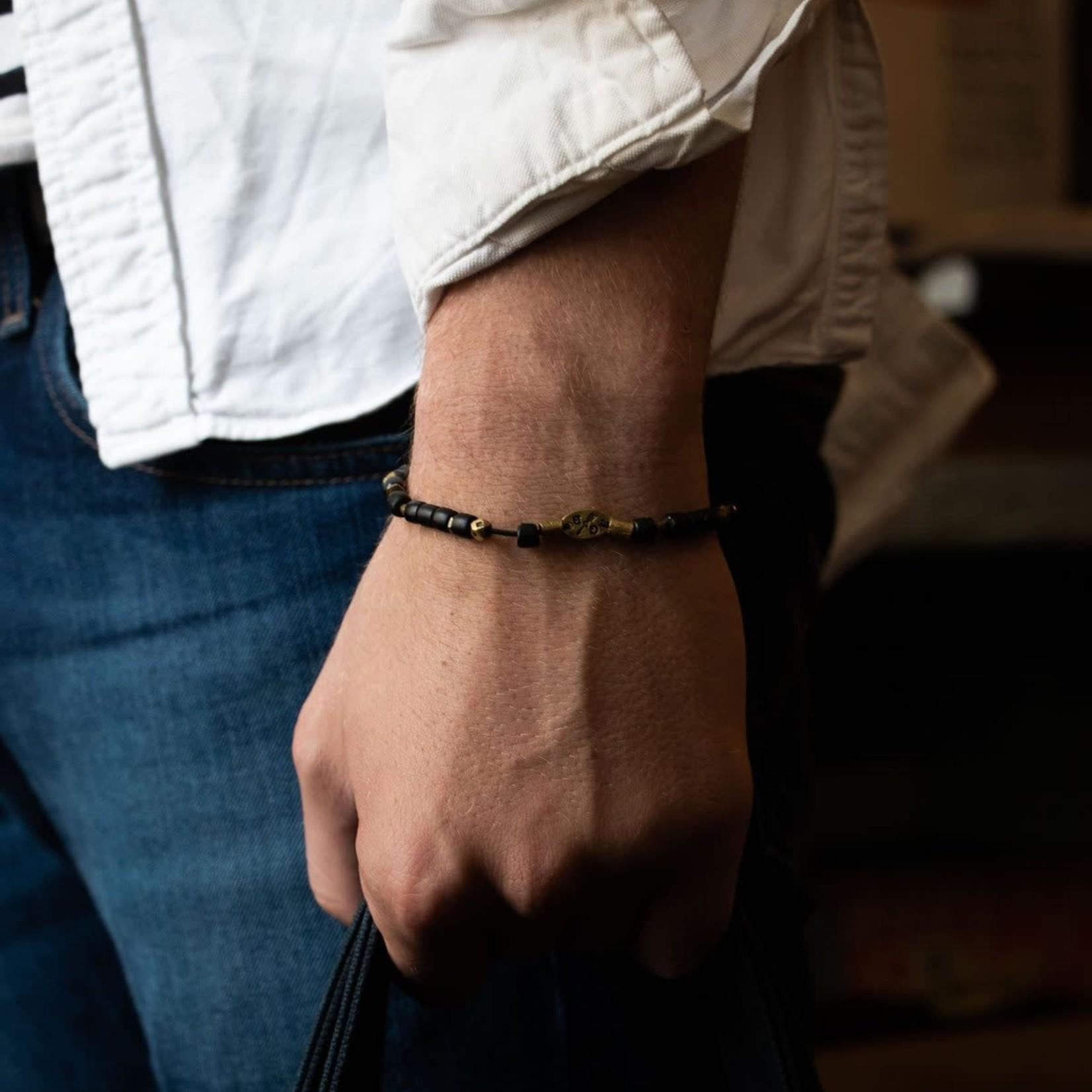 Giles & Brother Beaded Vintage Stretch Bracelet