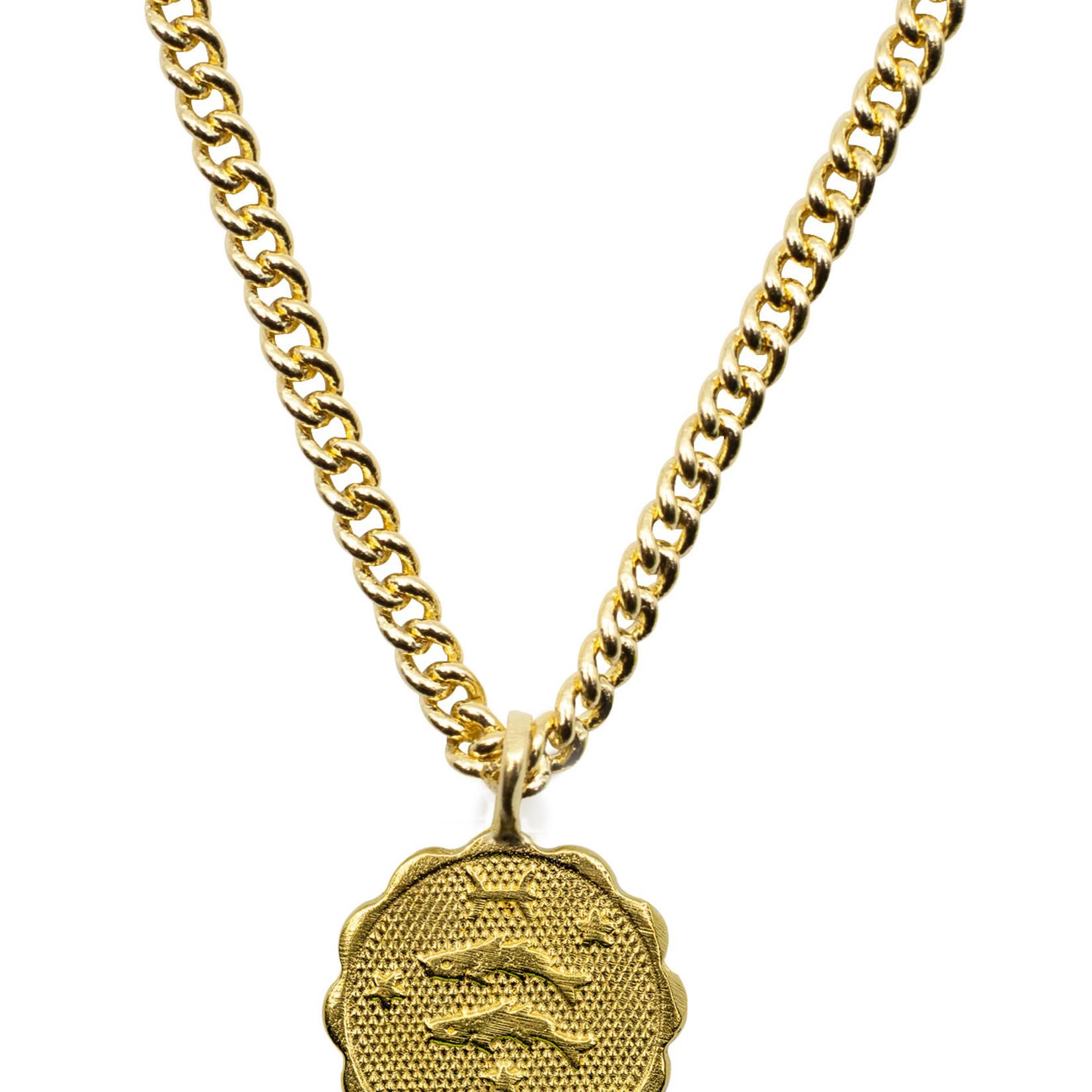 Mana Made Jewelry 14 Karat  Gold Plated Zodiac Necklace by Mana Made Jewlery