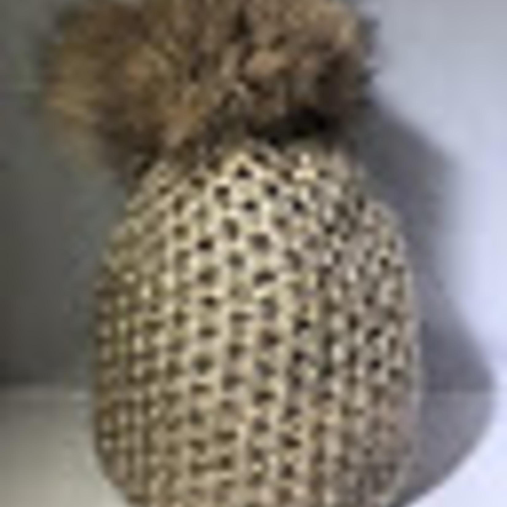 Fur Pom Pom Capri Hat JJ80 by Jijou Capri