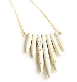 "Mana Made Jewelry Mana 28"" Howlite 7 Stone Necklace"