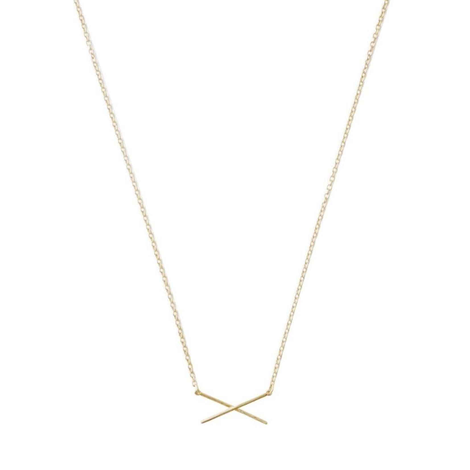 Honeycat Jewelry X Bar Necklace by Honeycat Jewelry