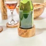 Natural OliveWood Natural OliveWood Wine Bottle Coaster