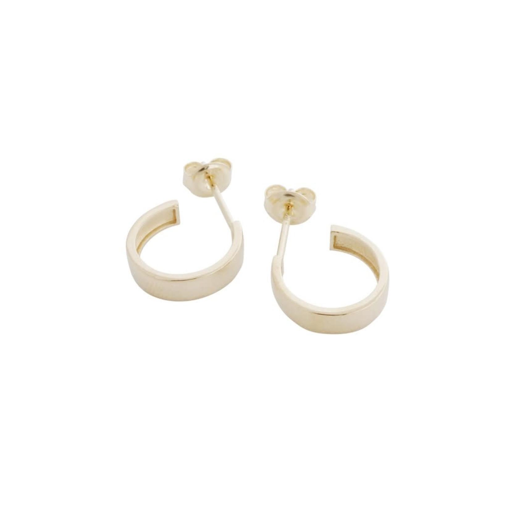 Honeycat Jewelry Honeycat Huggie Hoop 14K Earrings