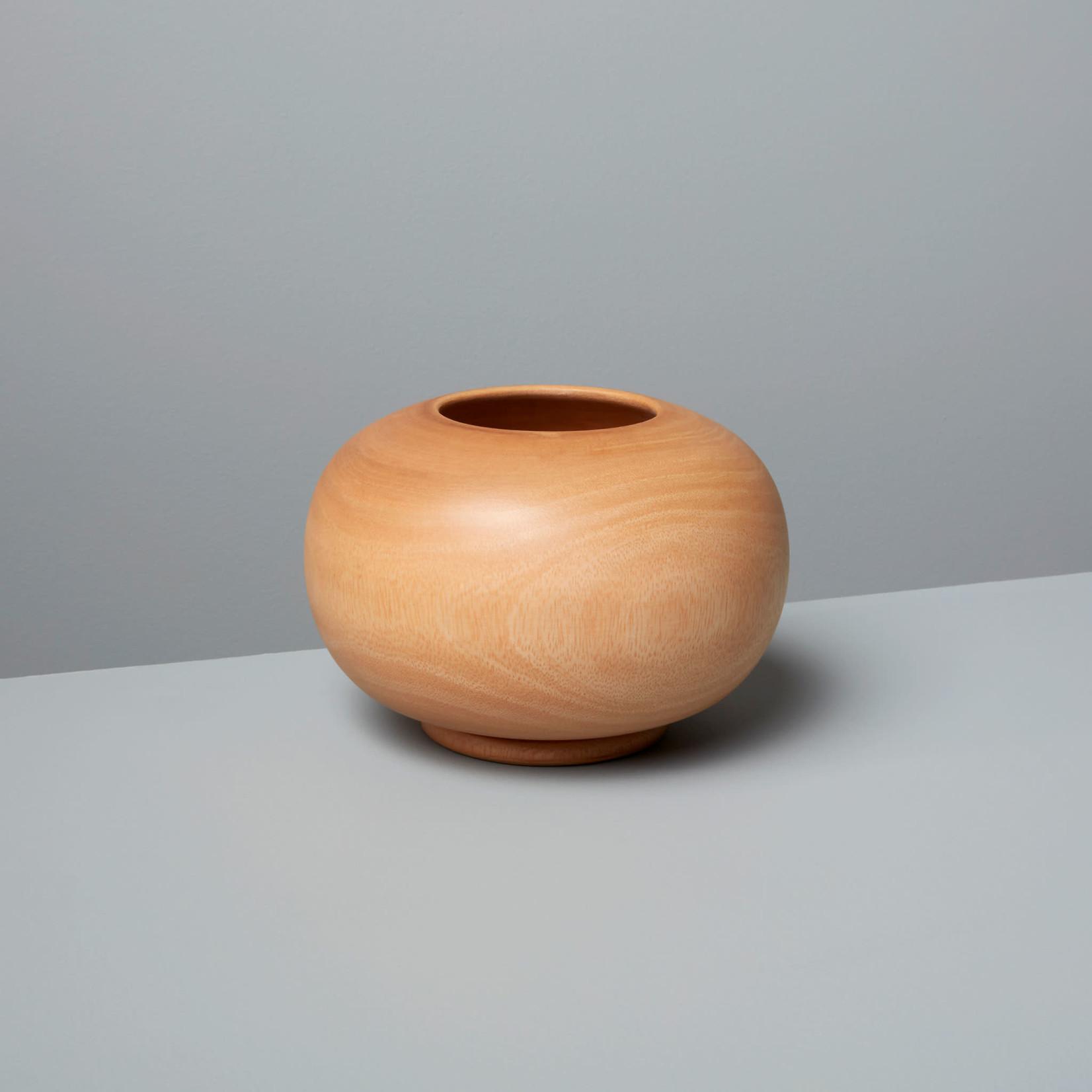 Be Home Be Home Mango Wood Round Vase